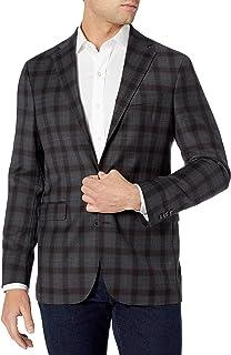 Cole Haan Men's Slim Fit Blazer, Gray Plaid, 42R