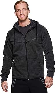 RBX Active Men's Athletic Fleece Full Front Zip Up Hooded Sweatshirt Hoodie
