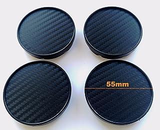 Born 1 Carbon 4 Stk x55mm NABENKAPPEN Radkappen Felgenkappen (Carbon Schwarz)