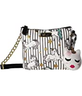 Luv Betsey Double PVC Triple Compartment Crossbody