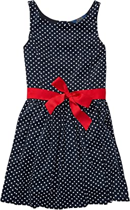 Polo Ralph Lauren Kids - Dotted Twill Button Back Dress (Big Kids)