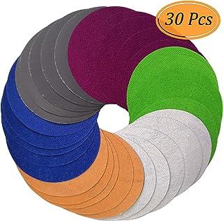 Aewio 耐水 高級なサンドペーパー #1000 - #10000 丸型 サンダー用 鏡面磨き 紙やすり 1000 2000 3000 5000 7000 10000 各5枚 (30枚セット 6タイプ 各5枚 #1000 - #10000)