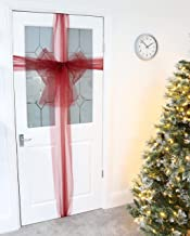 Christmas Concepts® Wine Red Fabric Autumn Door Bow Decoration - Make Your Own Fabric Bow