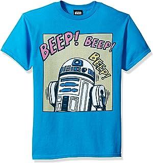 Star Wars Boys' Big R2d2 Pop Comic Sounds Graphic Tee, Turquoise, YXS