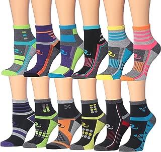 Women's 12-Pairs Running & Athletic Sports Performance Ankle/Quarter Socks