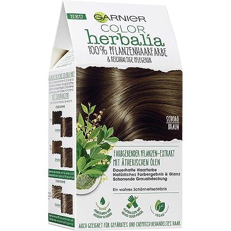 Garnier Color Herbalia Marrón chocolate, 100% color de pelo vegetal, coloración vegetal, vegano, paquete de 3 (3 x 1 pieza)