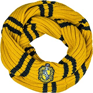 Cinereplicas - Harry Potter - Infinity Scarf - Ultra soft - Officially licensed - Hufflepuff - 190 cm - Yellow & black