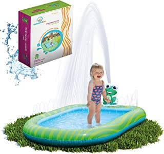 Splashin'kids 3 in 1 Inflatable Sprinkler Pool for Kids, Baby Pool, Kiddie Pool, Toddlers Wading Swimming Water Outdoor To...