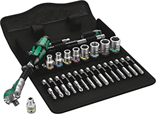 Wera 05004016001 8100 SA 6 Zyklop Metric Speed Ratchet Set, 28 Piece, 1/4