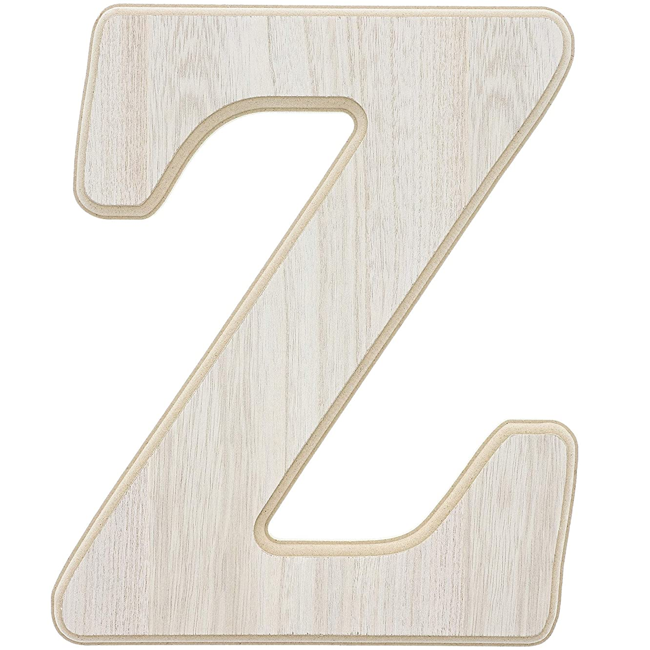 Unfinished Wood Letter Z Cutout for DIY Painting, Crafts, and Wall Decor,10 x .5 x 12 Inches