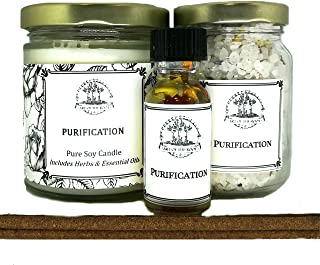 Art of the Root Purification Spell Kit for Negativity, Spiritual Cleansing & to Dispel Unwanted Influences Wiccan Pagan Hoodoo Conjure