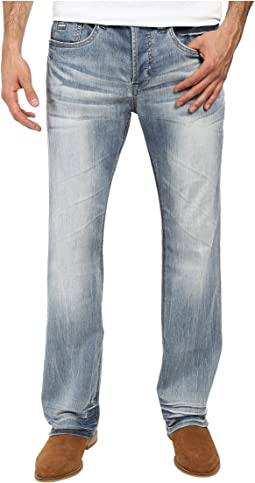 King Slim Boot Cut Jeans in Heavy Sandblasted