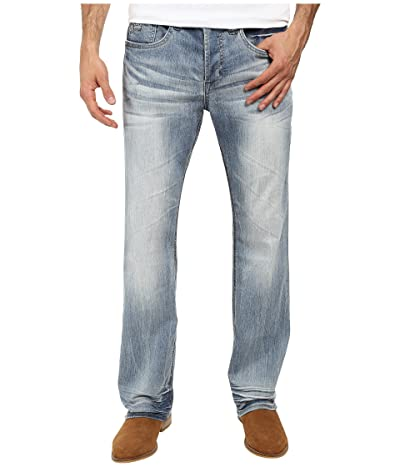 Buffalo David Bitton King Slim Boot Cut Jeans in Heavy Sandblasted (Heavy Sandblasted) Men