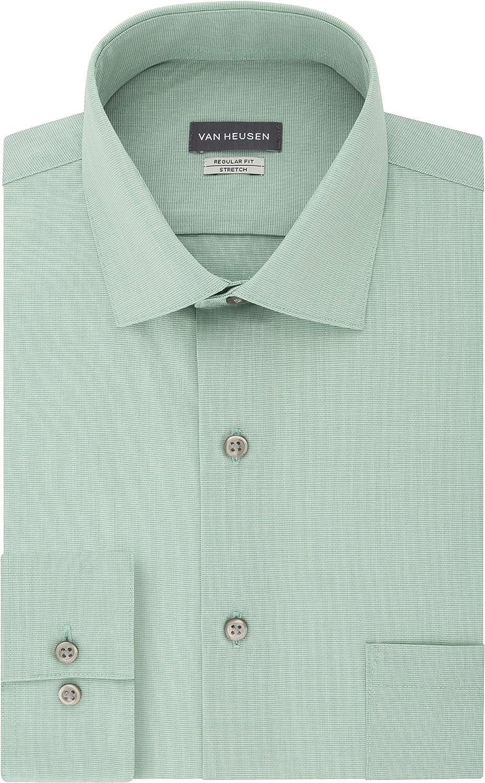 Rare Van Heusen Men's Dress Direct stock discount Shirt Regular Stretch Check Fit