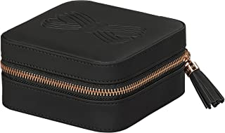 Ted Baker Jewelry Case with Gold Tassel Zipper Black Travel and Storage