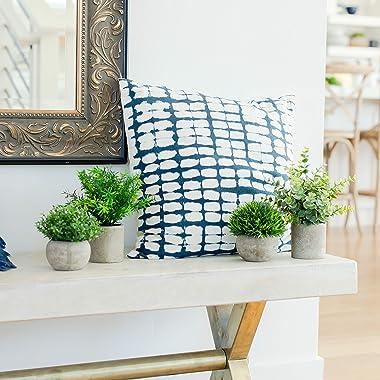 GreenCallow Artificial Plants for Home Decor Indoor. 4 Mini Plants, Rosemary Faux Plant Decor, Eucalyptus Plant, Grass Faux P