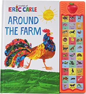 World of Eric Carle, Around the Farm Animal 30-Button Sound Book - Great for First Words - PI Kids