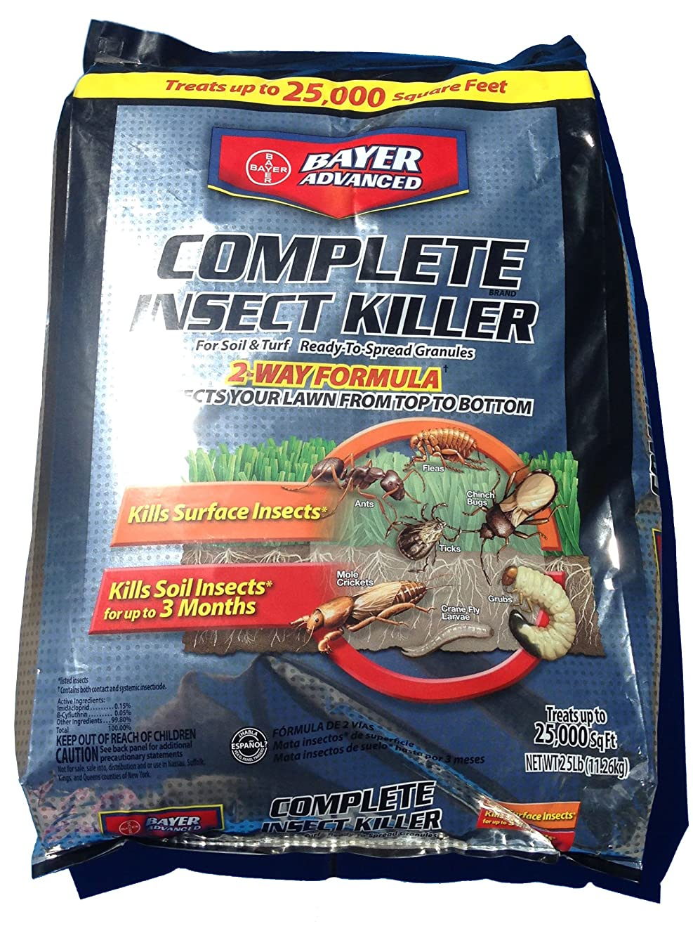 Complete Brand Insect Killer for Soil and Turf (Treats up to 25,000 Square Feet!)
