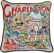 catstudio Charleston Embroidered Decorative Throw Pillow | Beautiful Award Winning Home Decor Artwork | Great for The Living, Family, Bed Rooms