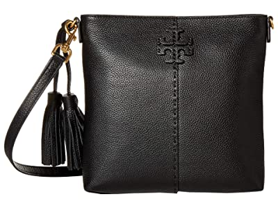 Tory Burch McGraw Swingpack (Black) Handbags