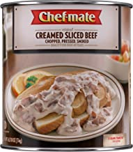 Chef-mate Creamed Sliced Beef, Canned Food and Canned Meat, 6 lb 10 oz (#10 Can Bulk)