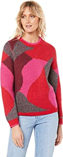 French Connection Women's Intarsia Lurex Knit