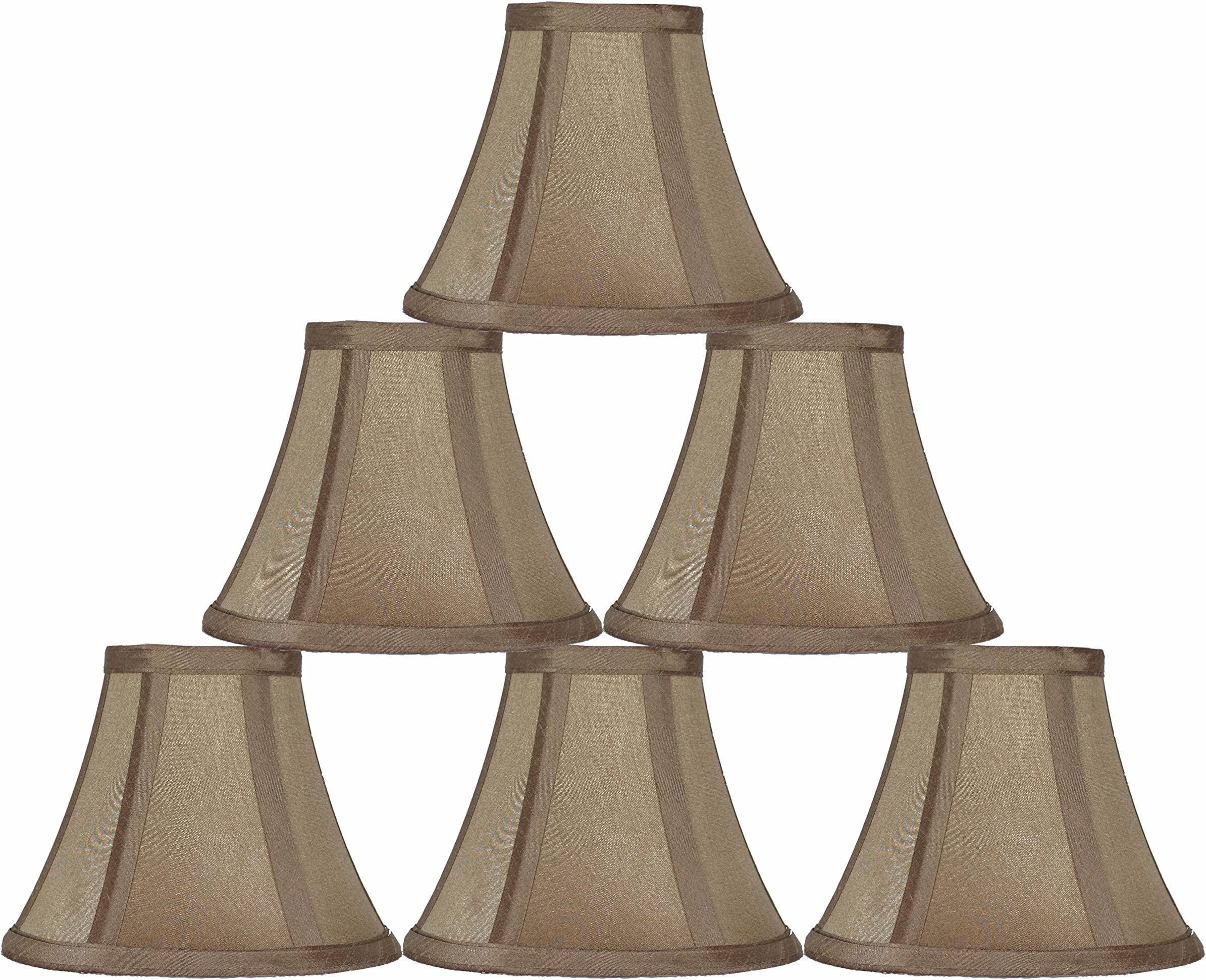 Clip on For Lamp Sconce,chandelier VINTAGE TAUPE BEADED LAMPSHADE