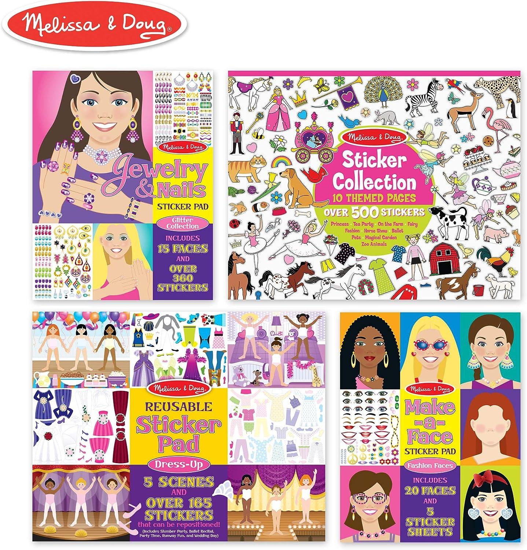 Melissa & Doug Girls Sticker Bundle, by Melissa & Doug