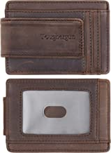 Best mens leather wallet with money clip Reviews