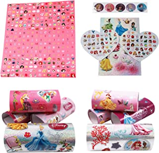 Kidplay Products 450pc Disney Princess Sticker Mania Kids Art Supplies Girls Sparkle Stickers