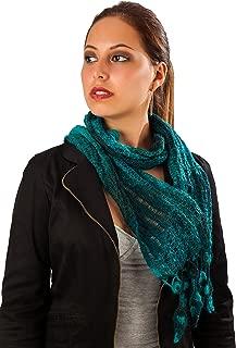 Knit Scarf 100% Baby Alpaca Peruvian Natural Fibers, Stylish, and Very Warm, AZO Free
