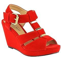 955cd1ed1ecd Fashion Thirsty Womens Low Mid High Heel Strappy Wedges Peep .