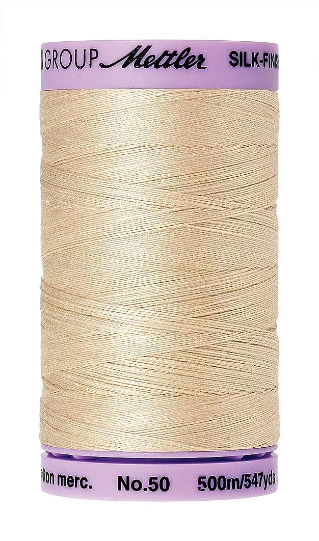 Mettler Silk-Finish Solid Cotton Thread, 547 yd/500m, Eggshell