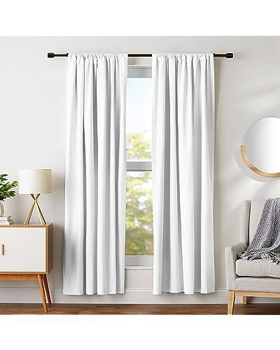 White Blackout Curtains  Amazon.com 250d71f374049
