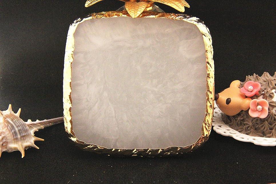 周術期教育する疎外する003613Glitter Powderジェルネイル 方形 ネイル ジェルネイル パレット プレート ディスプレイ 天然石風 展示用 アゲートプレート デコ アクセサリー ジェルネイル (方形) (ホワイト)