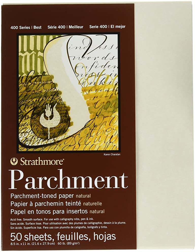 Strathmore STR-406-3 50 Sheet Natural Parchment, 8.5 by 11