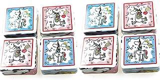 #detailverliebt 10 Einhorn-Magnete lustig und s/ü/ß I dv/_296 I 88 x 55 mm I Magnete mit Einhorn-Motiven und Spr/üchen I K/ühlschrank K/üche Deko Geschenk-Idee gl/änzend