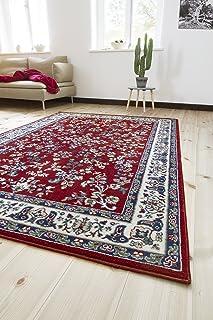 andiamo Klassicher Orientteppich Perserteppich Orientalisches Muster Webteppich Kurzflor Alfombra, Polipropileno, Rojo, 160 x 230 cm
