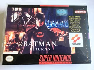 Batman Returns (Super Nintendo, SNES) - Reproduction Video Game Cartridge with Universal Game Case and Glossy Manual