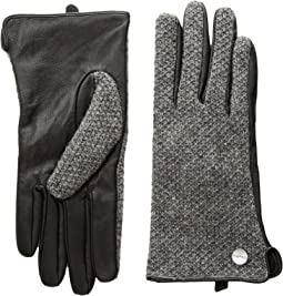 Calvin Klein - Knit and Leather Gloves