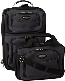 Traveler's Choice Amsterdam Two Piece Carry-on Luggage Set, Gray (Gray) - TS6902G