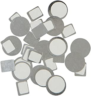 Set of 80, 26 mm, Metal Magnetic Stickers (40 pc circles and 40 pcs squares for non-magnetized makeup pans for use with any magnetic makeup palette)