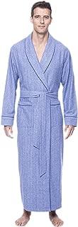 Mens Robe - 100% Cotton Flannel Robe, Full-Length Mens Bathrobe
