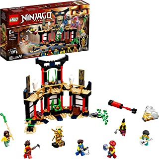 LEGO 71735 NINJAGO Legacy Tournament of Elements Temple Building Set with Battle Arena and Collectible Gold Ninja Lloyd Fi...