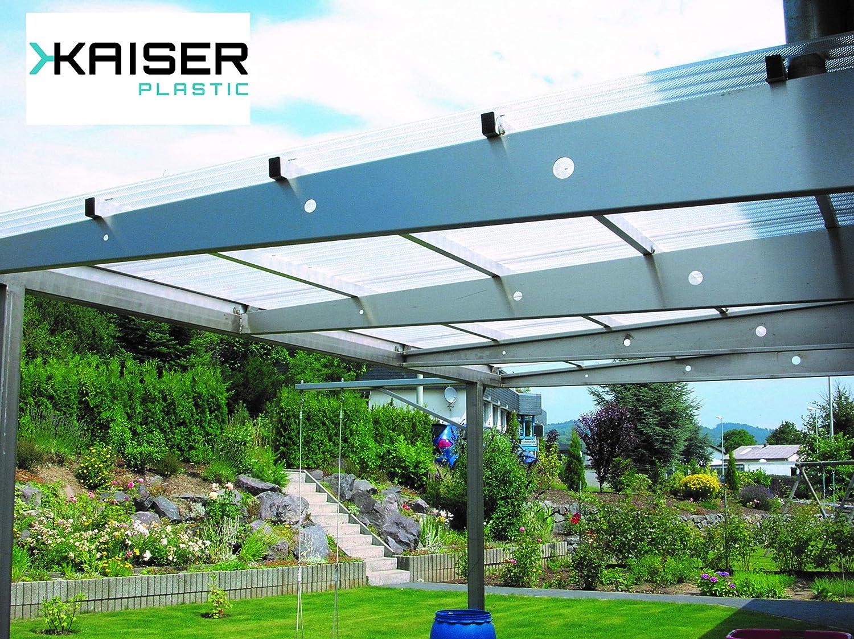 Kaiser Plastic® - Placa ondulada Xtra Strong (PC), lisa y transparente, 90 x 120 cm, por unidades o lotes