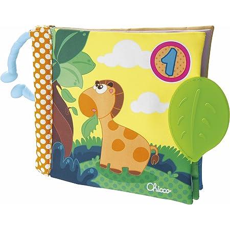 Chicco Gioco Baby Senses Libro 123, Libretto Morbido in Tessuto per Bambini con Tante Attività, 3-24 Mesi