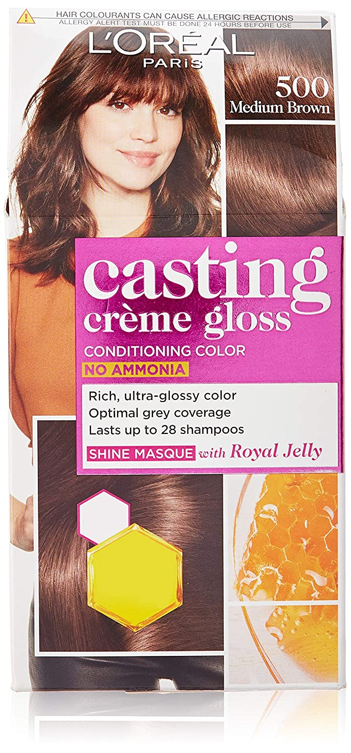 胴体ではごきげんようであるL'Oreal Paris Casting Creme Gloss Hair Color, Chocolate 535, 87.5g+72ml