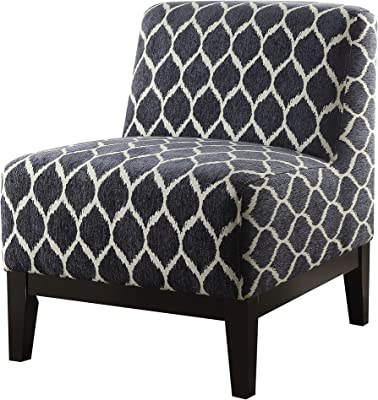 ACME Hinte Dark Blue Chenille Accent Chair