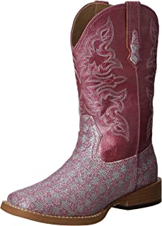 SquareToe Glitter Checkerboard Western Boot (Toddler/Little Kid)