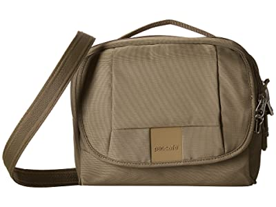 Pacsafe Metrosafe LS140 Anti-Theft Compact Shoulder Bag (Earth Khaki) Cross Body Handbags